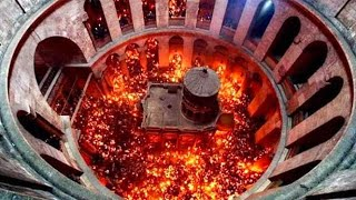 Holy Fire Miracle in Jerusalem Israel