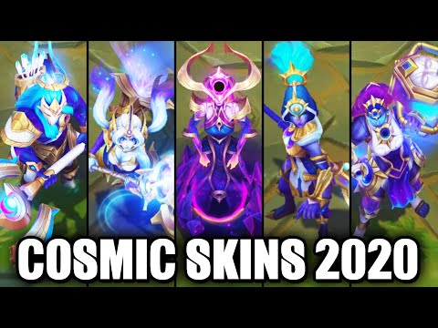 All New 2020 Cosmic Skins Spotlight (League of Legends)