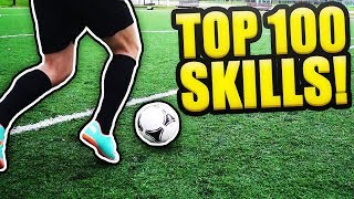 100 AMAZING FOOTBALL SKILLS TO TRICK YOUR DEFENDER! 💯