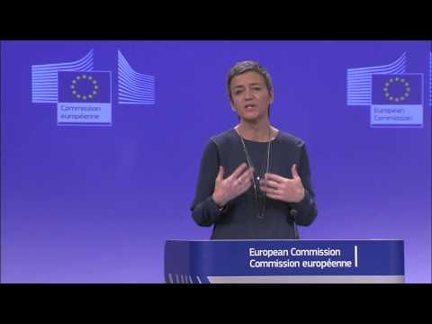La conferenza stampa del Commissario alla Competizione Margrethe VESTAGER (10 dicembre 2014)