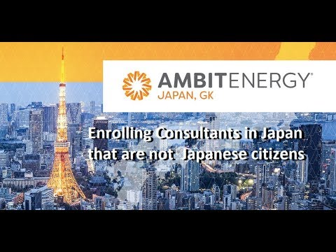 Enrolling a new Ambit Energy consultant in Japan that is not a Japanese citizen