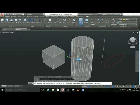 How To Use EXTRUDE Command In Autocad In Tamil Part 1