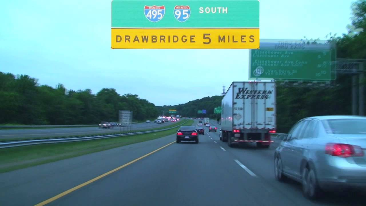 Capital Beltway I  I South Washington DC YouTube - Washington dc interstate map