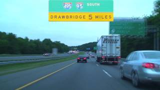 Capital Beltway I-95 & I-495 South: Washington DC