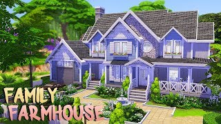 BRIGHT FAMILY FARMHOUSE 💕   The Sims 4   Speed Build
