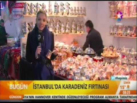 STAR TV - BUGÜN - İSTANBUL'DA KARADENİZ FIRTINASI