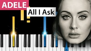 Adele all i ask piano