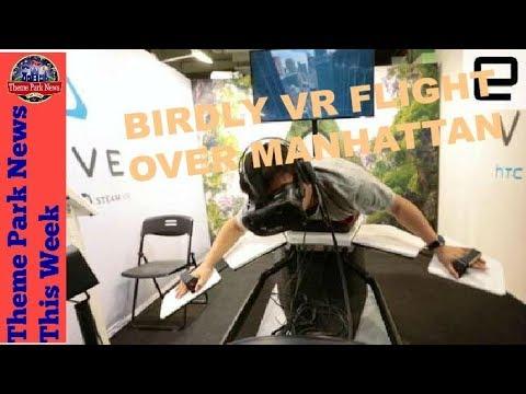 Theme Park News This Week | Birdly VR Flight over Manhattan S2E40