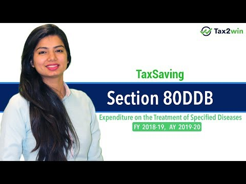 Income Tax Deduction Section 80DDB