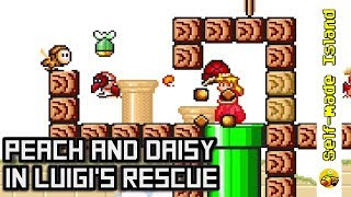 Peach and Daisy in Luigi's Rescue • Super Mario World ROM Hack