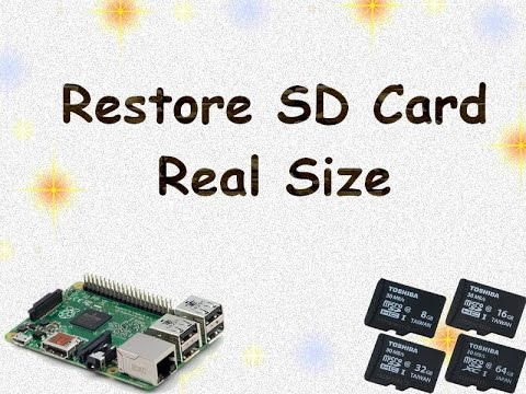 Restore Memory Card Size - YouTube