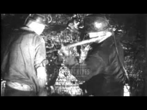Coal mining in the U.K. 1950s. Archive film 92654