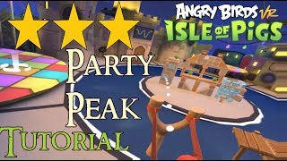 Angry Birds VR: Isle of Pigs: Party Peak. 3 stars, all 13 levels - HTC VIVE ✅