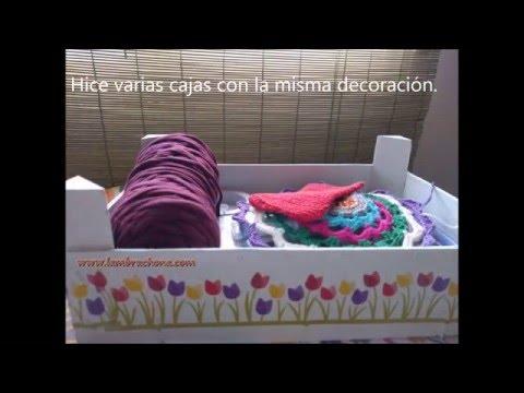 Manualidades caja de fresas decoradas youtube - Cajas madera para manualidades ...