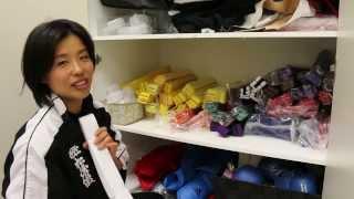 The secret Karate bęlt cupboard (NB-competition belts excluded)