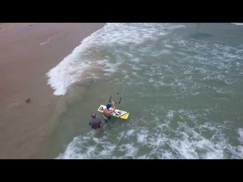 Kitesurfing in Boao, Hainan, China - May 2016 -- Drone footage