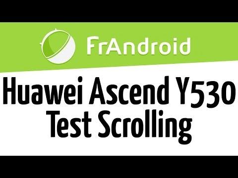 Test scrolling Huawei Ascend Y530