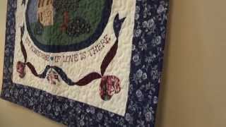 Amish Made Quilted Wall Hanging - Home Is Where The Heart Is