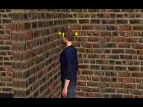 Bang head a brick wall and see stars - YouTube