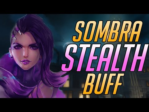 Sombra STEALTH and EMP BUFFS Gameplay | Overwatch PTR