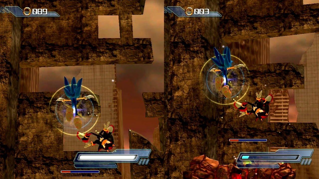 Abm Sonic Vs Shadow On Sonic The Hedgehog 2006 Gameplay Match