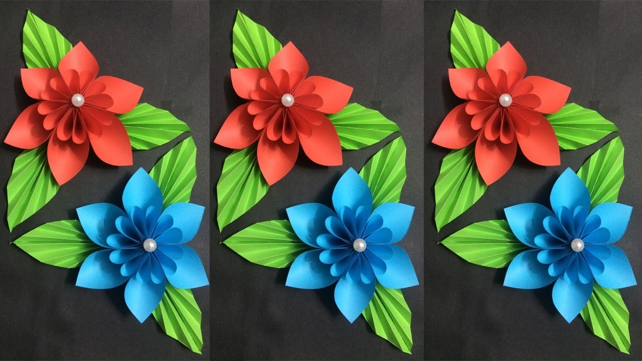 How To Make Flower With Colored Paper Making Paper Flowers Step By Step Diy Paper Crafts