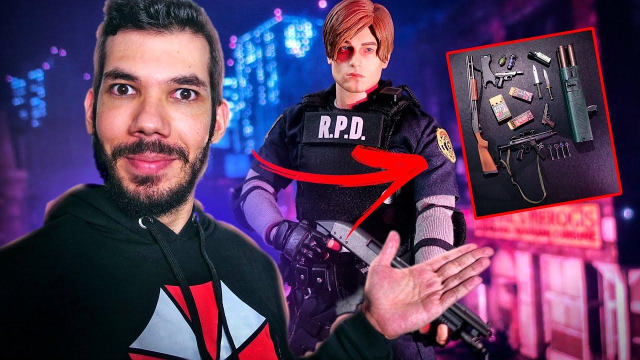 Resident Evil - GANHEI UMA RÉPLICA PERFEITA DO LEON COM TODOS OS ACESSÓRIOS