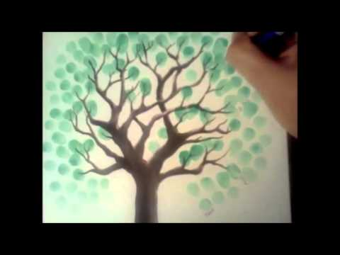 Thumbprint Tree Guest Book - by MyWeddingTree