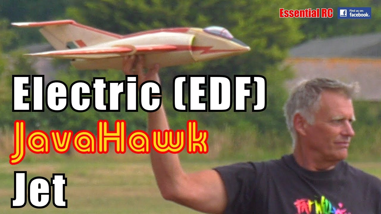 Electric Ducted Fan (EDF) RC JavaHawk JET (plan built radio controlled  Javelin / Hawk Delta)