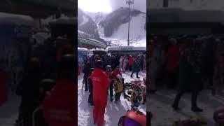 Праздничный день на горнолыжном курорте Красная Поляна