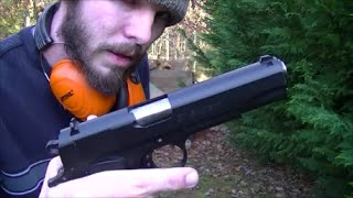 45 acp is more powerful than 9mm visual proof
