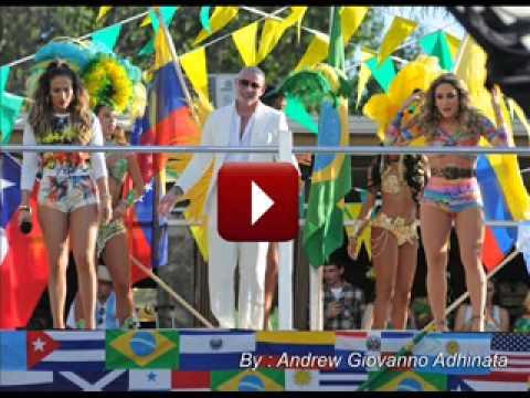 Download Lagu Piala Dunia 2014 Brazil: Pitbull Ft Jenifer Lopez - We Are One (Ole Ola)