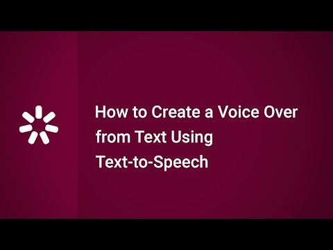 How to Create a Voice Over from Text Using Text to Speech