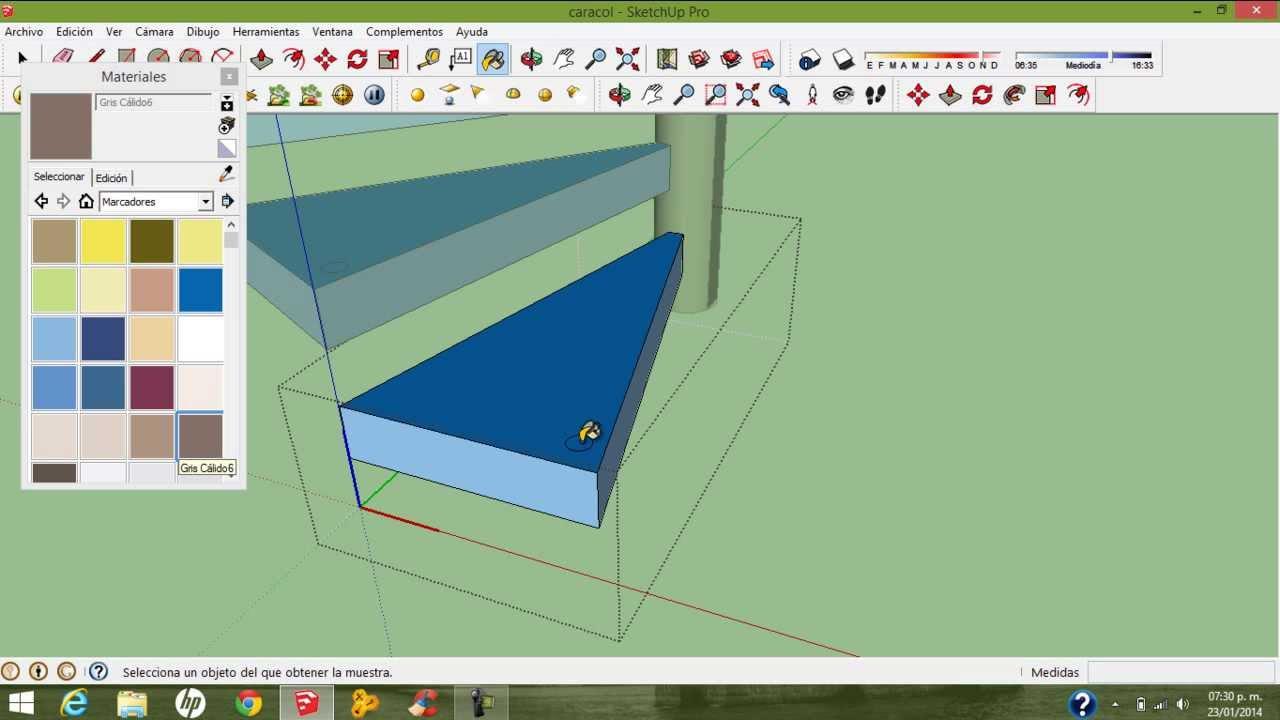 como hacer una escalera de caracol en sketchup hd