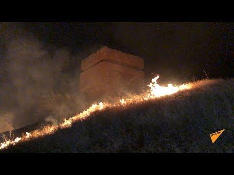 Крупный пожар неподалеку от казино «Шангри Ла»