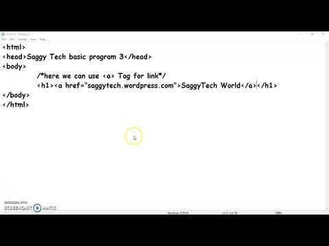 SaggyTech tutorial 3 HTML 3 thumbnail