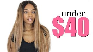 Blonde Straight Synthetic Wig under $50► Model Model Sylvie TSTAFFY