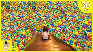 Indoor Playground Fun for Kids and Family Play Slide Colors Rainbow Balls and More| MariAndKids Toys