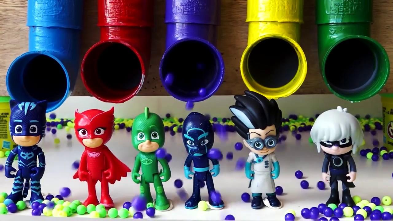 Герои в масках учим цвета Pj Masks Learn Colors Раскраска ...