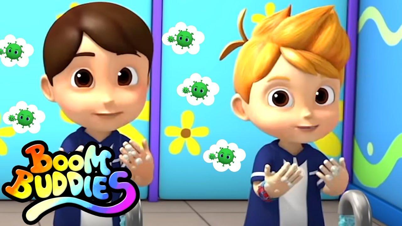 Lava tus manos | Rimas para niños | Boom Buddies Español | Educación | Videos preescolares