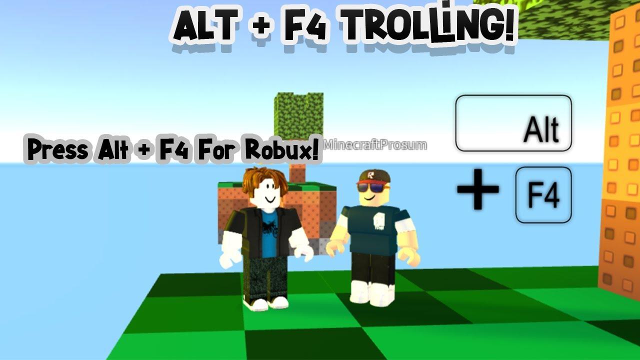 Alt + F4 Trolling! | Roblox Skywars