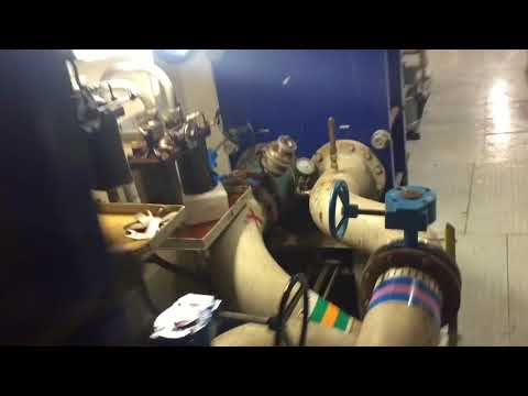 Offshore Anchor Handling Supply Vessel walk through (engine room)