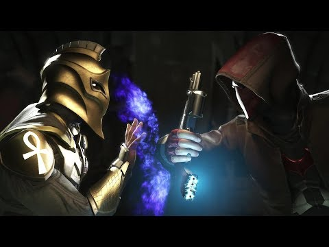 Injustice 2 : Doctor Fate Vs Red Hood - All Intro/Outro, Clash Dialogues, Super Moves