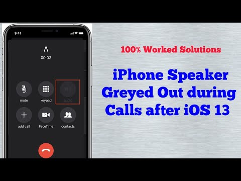 iPhone 7 and 7 Plus, 8, 8 plus, X, XS Max and XR Speaker button Greyed Out during Calls in iOS 13