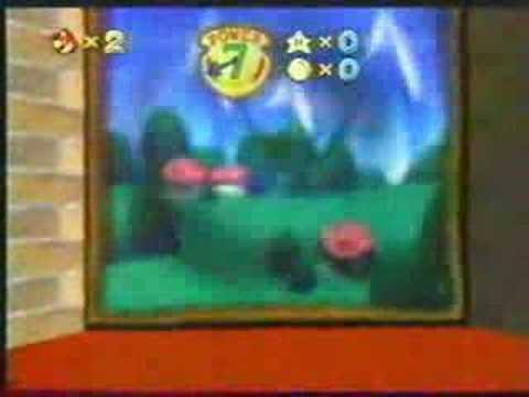 Super Mario Nintendo Ultra 64 Beta Painting Slide