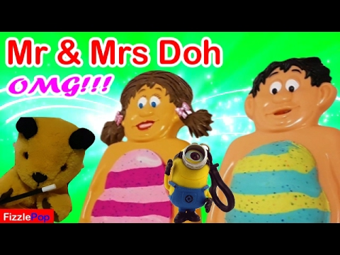 Mr Doh & Mrs Doh Cutting Open Belly SOOTY MAGIC Whats Inside Squishy Toys