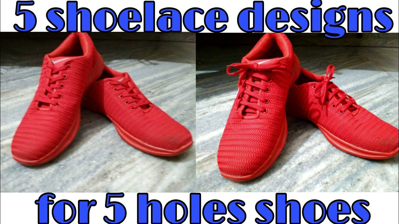 cool shoelace designs for 5 holes shoes