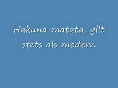 Hakuna Matata (german) lion king
