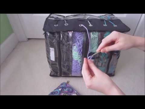 6 Skein Crocheting Organizer Holder Storage Knitting Yarn Craft Tote Bag Case