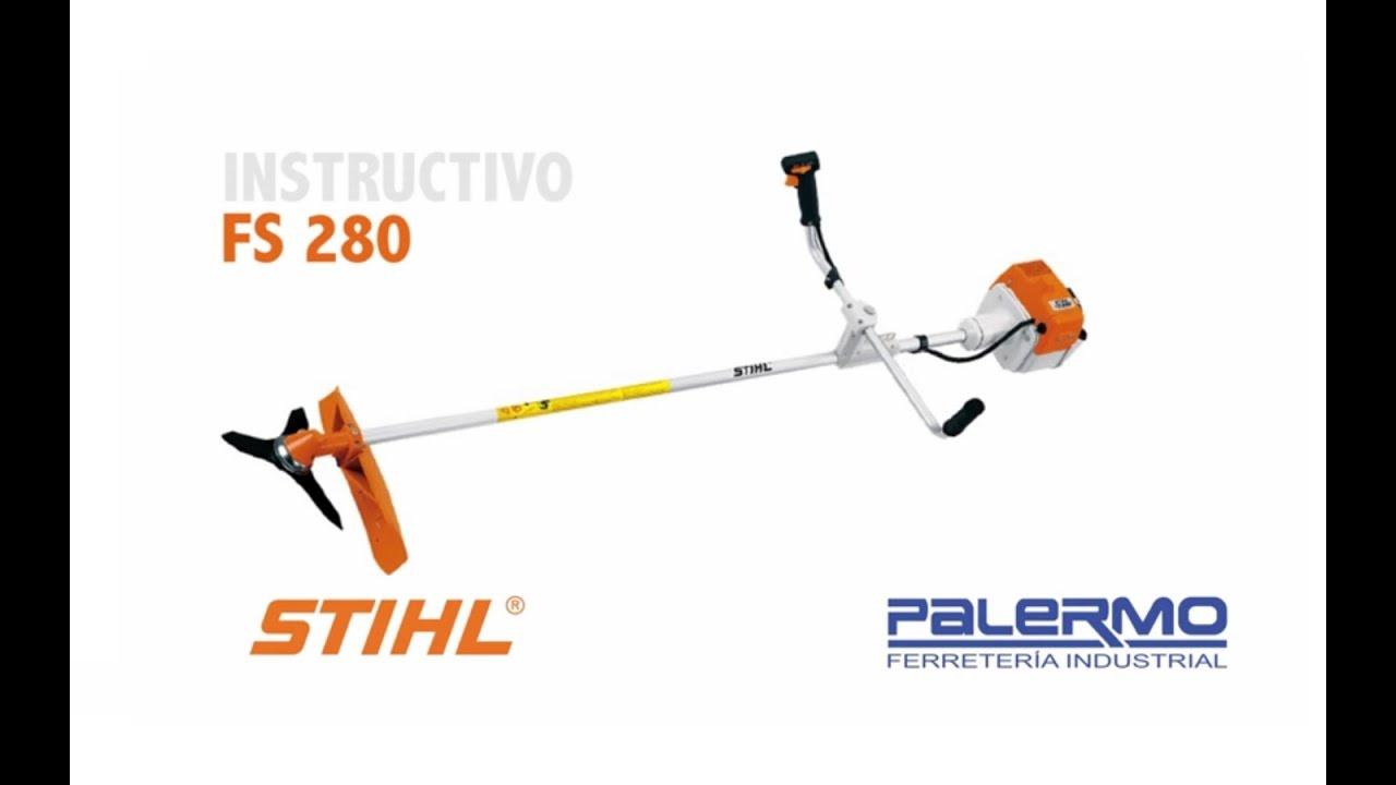 Instructivo   Tutorial de motoguadaña STIHL FS 280 - Ferreteria Palermo 6ebd67e86ad6